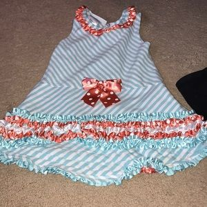 Bonnie Jean 4T striped dress with polka dots